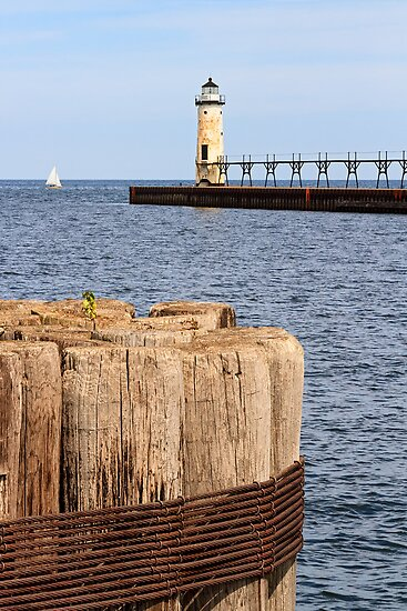 Manistee, Michigan Lighthouse by Kenneth Keifer