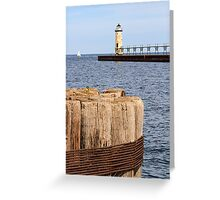Manistee, Michigan Lighthouse Greeting Card