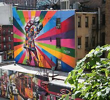 Murals Near High Line, New York's Elevated Garden and Park by lenspiro