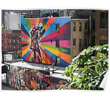 Murals Near High Line, New York's Elevated Garden and Park Poster