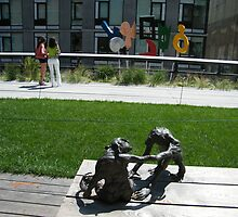 Sculptures on the High Line, New York's Elevated Garden and Park by lenspiro