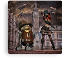 Steampunk Sci-Fi 2 Canvas Print