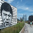 Mural on the High Line, New York's Elevated Garden and Park by lenspiro