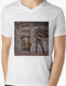 Steampunk Sci-Fi 2 Mens V-Neck T-Shirt