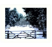 Gate in the Snow Art Print