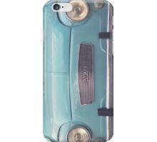 Mint - Blue Retro Fiat Car  iPhone Case/Skin