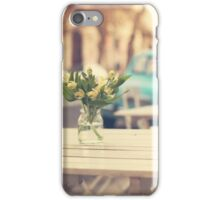 I'm gonna miss you a lot (Retro Pastel Coffee Shop in the Streets) iPhone Case/Skin