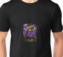 Bee Gathering Pollen on a Knapweed Unisex T-Shirt
