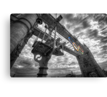 Tower Bridge Olympic Rings Canvas Print