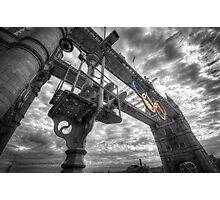 Tower Bridge Olympic Rings Photographic Print