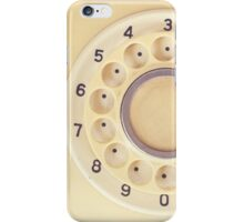Yellow Retro Telephone  iPhone Case/Skin