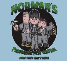 Norman's Paranormal pest control. Kids Clothes