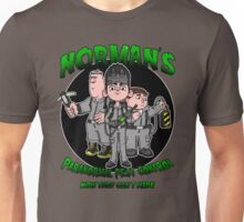 Norman's Paranormal pest control. Unisex T-Shirt