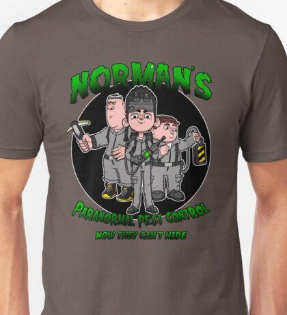 Norman's Paranormal pest control. Unisex T-Shirt