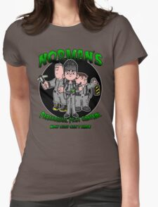 Norman's Paranormal pest control. Womens Fitted T-Shirt