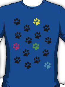 Random Colorful Cat Paws 001 T-Shirt