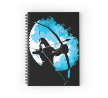 He walks at night... (Blue) Spiral Notebook