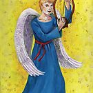 Angel boy playing lyre. by didielicious