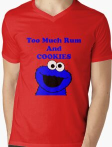 Too much rum and cookies Mens V-Neck T-Shirt
