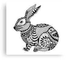 Rabbit Zentangle Canvas Print