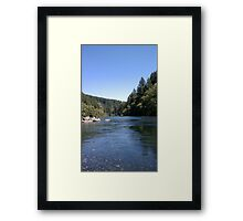 Sunny Day At The River Framed Print