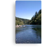 Sunny Day At The River Canvas Print