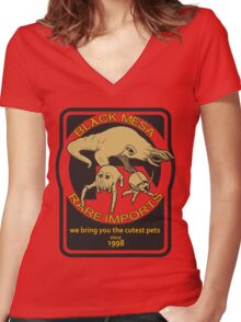 Black Mesa rare imports. Women's Fitted V-Neck T-Shirt