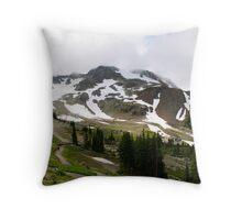 August Snow Throw Pillow