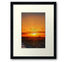 Setting Rays Framed Print