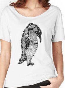 Penguin Illustration Women's Relaxed Fit T-Shirt
