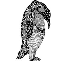 Penguin Zentangle by LidiaP