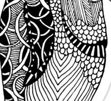Penguin Zentangle Sticker