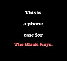 The Black Keys iPhone Case by Ellen Hardin