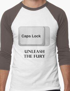 CAPS LOCK FURY!!! Men's Baseball ¾ T-Shirt