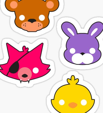 FNAF // Freddy's Faces Pattern Cute Kawaii Chibi for kids Sticker