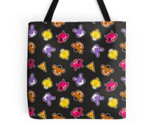 FNAF // Freddy's Faces Pattern Cute Kawaii Chibi for kids Tote Bag