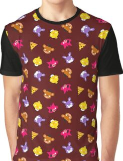 FNAF // Freddy's Faces Pattern Cute Kawaii Chibi for kids Graphic T-Shirt