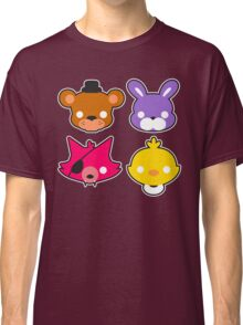 FNAF // Freddy's Faces Pattern Cute Kawaii Chibi for kids Classic T-Shirt