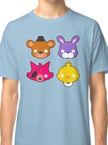 FNAF // Freddy's Faces Pattern Cute Kawaii Chibi for kids Classic T-Shirt