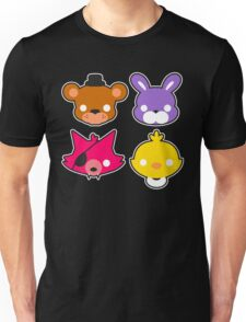 FNAF // Freddy's Faces Pattern Cute Kawaii Chibi for kids Unisex T-Shirt