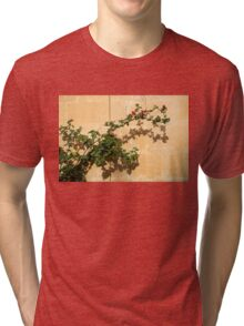 Of Light and Shadow - Bougainvillea on a Timeworn Plaster Wall Tri-blend T-Shirt