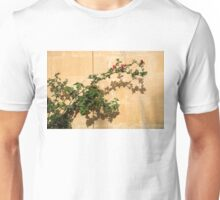Of Light and Shadow - Bougainvillea on a Timeworn Plaster Wall Unisex T-Shirt
