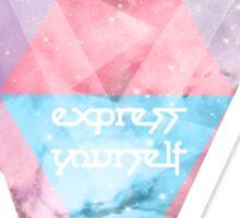 Express Yourself Tee Sticker