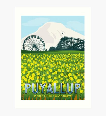 Vintage Puyallup Washington Poster Art Print