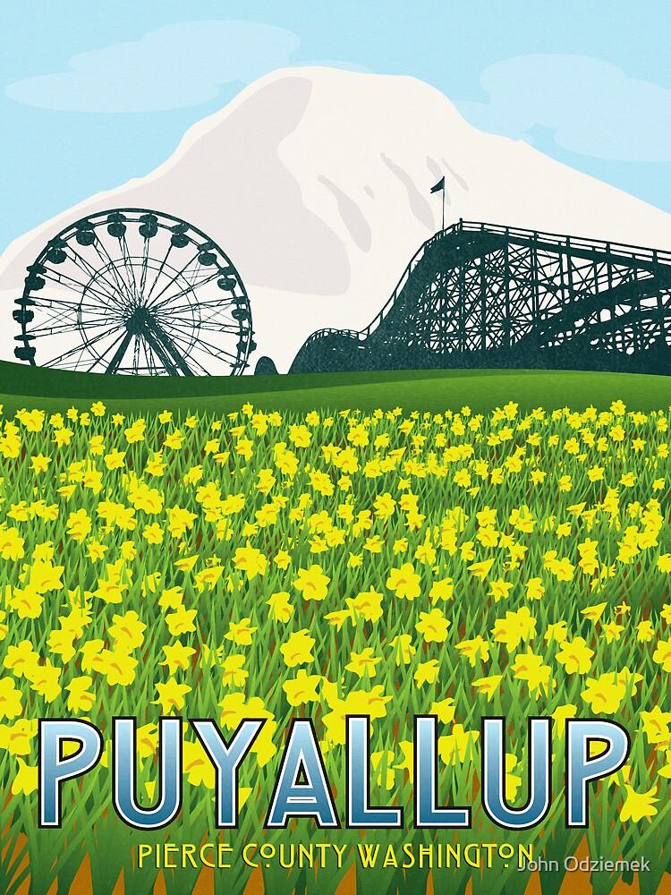 Vintage Puyallup Washington Poster by JohnOdz