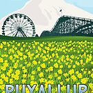 Vintage Puyallup Washington Poster by JohnOdz