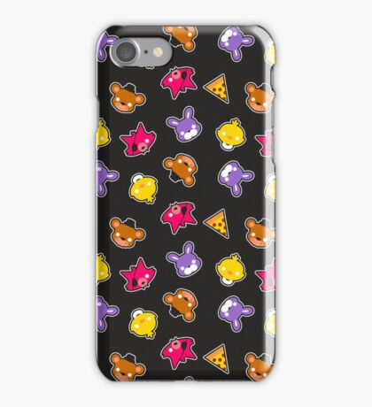 FNAF // Freddy's Faces Pattern Cute Kawaii Chibi for kids iPhone Case/Skin