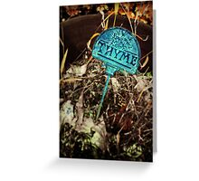 Thyme Greeting Card