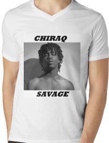 CHIRAQ SAVAGE Mens V-Neck T-Shirt