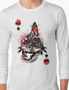 Blackout Poker-Shark Bait Distressed Long Sleeve T-Shirt